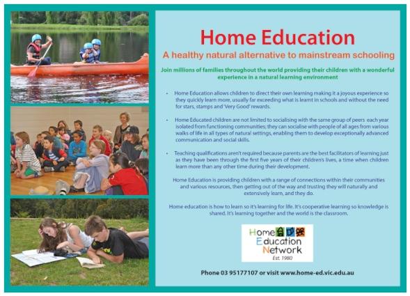 Home education colour flyer